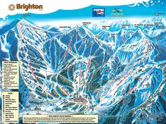 Brighton Ski Resort - Utah The place where I was born. In my family you learned to ski as soon as you could stand. Brighton Resort, Utah Ski Resorts, Snow Resorts, Travel Camper, Ski Posters, Area Map, Ski Vacation, Ski Holidays