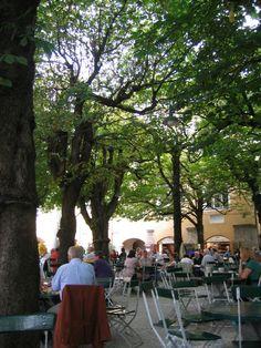 Augustiner Brau Kloster Bier Garten Salzburg, Austria