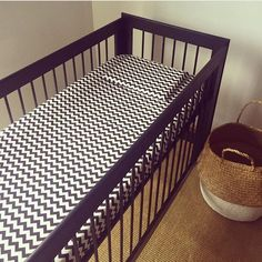 Cot Sheets, Baby Couture, Black Chevron, Gender Neutral, Sheet Sets, Cribs, Pillow Cases, Toddler Bed, Nursery