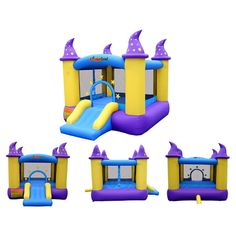 Inflatable Bounce House Castle Kids Jumper Outdoor Bouncer Slide Blower Fun Play for sale online