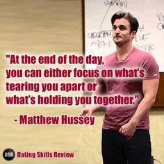 Learn more about dating and relationships from Matthew Hussey here: http://www.datingskillsreview.com/matthew-hussey/