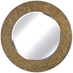 "Kenroy Home Bundle Natural Reed 32"" Round Wall Mirror"