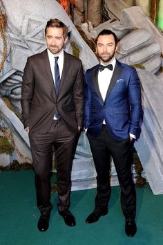 Well gd. {Lee + Aidan: 'The Hobbit: The Battle of the Five Armies' Premiere}