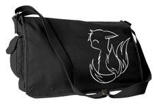 Kitsune Fox Messenger Bag - noir ou rose - kawaii bébé renard en toile sac à bandoulière mignon / anime / kyuubi / pokemon sur Etsy, $55.25 CAD