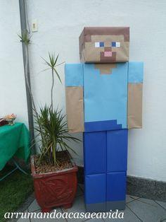 """""""Tudo o que um sonho precisa para ser realizado é alguém que acredite que ele possa ser realizado."""" Roberto Shinyashiki Meu filho já é u... Steve Minecraft, Easy Minecraft Houses, Minecraft Toys, Minecraft Crafts, Minecraft Cake, Minecraft Furniture, Minecraft Skins, Minecraft Buildings, Minecraft Birthday Party"""