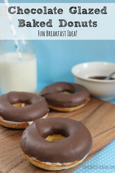 These homemade donuts bake up in your oven and are so easy to make, even your children will love making them with you!
