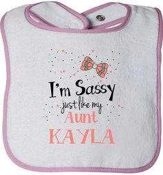 The ultimate personalized sassy bib is ready and waiting for you!   Exclusively for sale on http://LiveLoveFamily.com. Get yours right away, click the image right away!