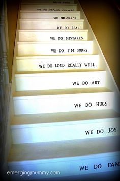 """""""in our house"""" on the stairs! Love, love, love. (@Sarah Chintomby Bessey emerging mummy)"""
