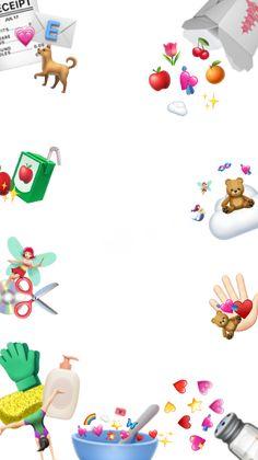 Cute Emoji Wallpaper, Cute Cartoon Wallpapers, Creative Instagram Stories, Instagram Story Ideas, Overlays Cute, Instagram Frame Template, Photo Collage Template, Collage Background, Cute Frames