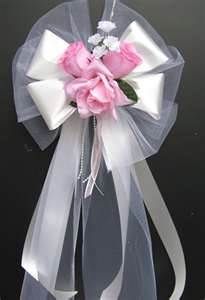 idea for bows for church pews