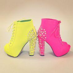 neon booties
