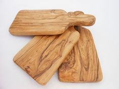 Olive Wood Rustic Cheese Cutting Board Set - Wooden Chopping Board 9.8 X 4.3 Inches by Zitouna Wood on Gourmly