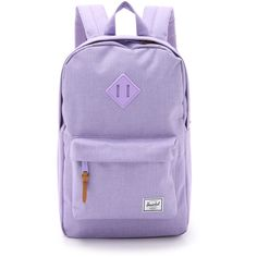 Herschel Supply Co. Heritage Mid Size Backpack ($56) ❤ liked on Polyvore featuring bags, backpacks, electric lilac, day pack backpack, herschel supply co backpack, utility backpack, backpacks bags and zip bags