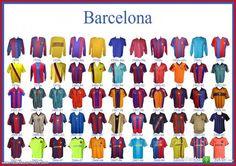 Todas las camisetas del Barça 1899-2010