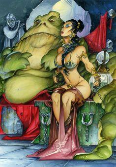 Azpiri Alfonso - Full Circle Project - Leia in the Jabba the Hutt Cave - Original Art Comic Art