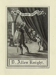 [Bookplate of D. Allen Knight] by Pratt Institute Library, via Flickr