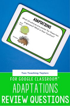 Looking for plant and animal adaptation review activities for kids to use during distance learning? These digital task cards are the perfect way to assess student understanding of plant and animal adaptations. Includes hibernation migration and form and function of adaptations. Designed for kids in 3rd, 4th, and 5th grade science. Bird beaks, bird feet, and more. Teaching 5th Grade, 5th Grade Science, Science Student, Elementary Science, Teaching Science, Elementary Schools, Physical Education Games, Health Education, Animal Adaptations