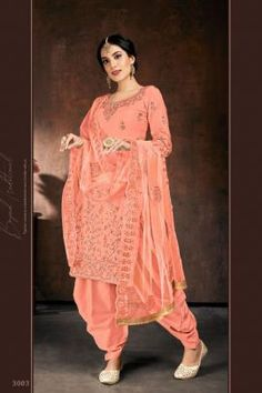 Patiyala Dress, Work Suits, Stone Work, Salwar Suits, Daily Wear, Embroidery, Pink, Cotton, How To Wear