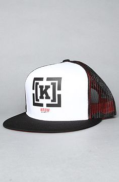 KR3W - The Bracket Trucker Hat (white) addicted to trucker hats