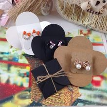 Caixa de jóias caixa de presente quente preto brinco cartão e brinco Box do favor do casamento logotipo personalizado MOQ : 1000 PCS logotipo Printting custo adicional(China (Mainland))