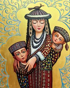 Gorgeous Family Oil Painting by Sevada Grigoryan.|FunPalStudio|Illustrations,  Entertainment, beautiful, creativity, nature, Art, Artwork, Artist, drawings, painting, culture, oil painting.