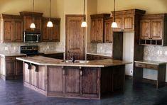 Alder Kitchen Cabinets Picture Gallery   Knotty Alder Kitchen Cabinets   Decor...love the cabinets...lighter floor