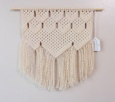 Handmade macrame wall hanging / Tom Sr. / Made by SophiesWhatKnots