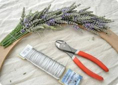 Start of a lavender wreath