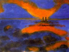 Red Clouds,1930 by Emil Nolde                                                                                                                                                     More