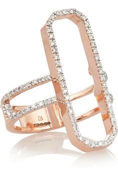 Monica Vinader   Diva Cocktail rose gold-plated diamond ring (=)