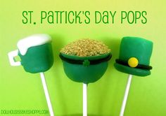 How cute are these St. Patty's day Cake Pops!!! Dollhouse Bake Shoppe: St. Patrick's Day Pops