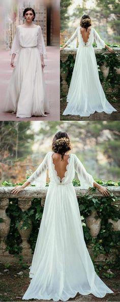 #LongSleeves Wedding #Dresses,#BeachWeddingDresses,#Flowy #Backless Wedding #Gowns,#Bridal Dresses,#PromDresses,#Chiffon #WeddingDresses,Dresses For #Wedding,#Elegant Wedding Dresses,#Long Wedding Dresses,#Lace Wedding Dresses,#Pretty Wedding Dresses,#Ivory #Beautiful Wedding Dresses