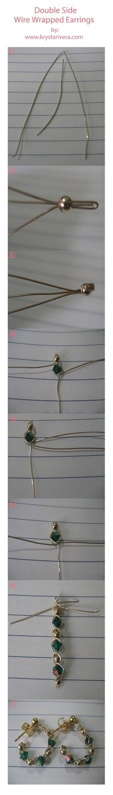 tea time: Beading Tutorial : Double Wire Wrapped Earrings