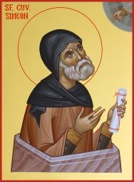 - Sf. Cuv. Simeon Stalpnicul - 15X20 cm Byzantine Icons, Orthodox Christianity, Art Icon, Orthodox Icons, Roman Catholic, Saints, Angel, Oil Paintings, Image