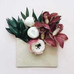 flowers in envelope - just for you with love All Flowers, Flowers Nature, My Flower, Flower Art, Flower Power, Beautiful Flowers, Envelopes, Bloom And Wild, Flower Invitation