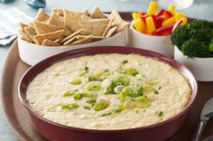 Hot Havarti and Green Onion Dip Recipe - Kraft Canada Meat Appetizers, Appetizers For Party, Appetizer Recipes, Party Dips, Appetizer Ideas, Dip Recipes, Snack Recipes, Cooking Recipes, What's Cooking