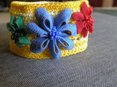 beaded ric rac flowers (inspiration)