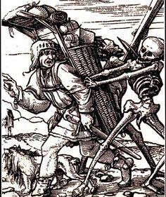Hans Holbein il giovane (1497-1543) incisioni della Dance of Death, edizione 1883, Londra.