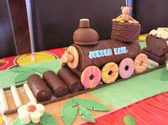 No Bake Birthday Cakes: Train Cake