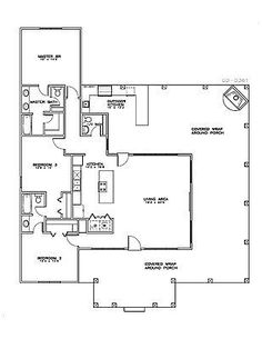 Home Design Drawing House Plan - Vacation, Cabin, Empty Nester Small House Plans, House Floor Plans, Mediterranean Homes, Barndominium, Coastal Cottage, Cottage Homes, Cottage Chic, Shed Plans, Cabin Plans
