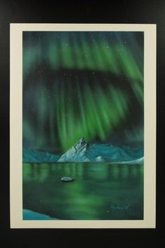 "Northern lights series "" print of the original painting. Signed by the author - limited edition available! Northern Lights, Nature, Painting, Travel, Etsy, Vintage, Naturaleza, Viajes, Painting Art"