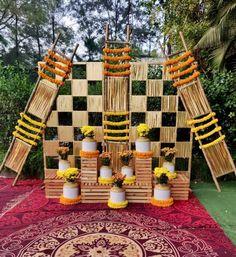 Desi Wedding Decor, Diy Wedding Backdrop, Wedding Decorations On A Budget, Backdrop Decorations, Wedding Ideas, Mehendi Decor Ideas, Mehndi Decor, Diwali Decorations At Home, Booth Decor