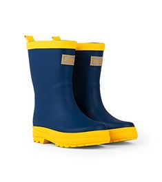 f0db197bfd0 Navy   Yellow Rain Boots by Hatley