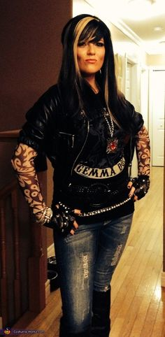 Meg: This is myself and husband, we are huge SOA fans. We decided last minute to take in a Halloween party, a quick trip the the thrift store, some iron on...
