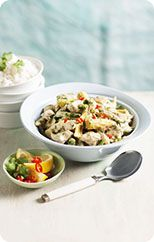 Pork and vegetable green curry