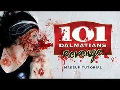 Dalmatians Revenge: Cruella de Vil Halloween Makeup Tutorial | Freakmo and Powdah collab - YouTube