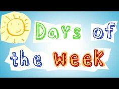 Days of the week - Adam's Family (Dr. Kindergarten Calendar, Kindergarten Songs, Preschool Music, Preschool Learning, Creative Curriculum Preschool, Preschool Lessons, Preschool Ideas, Teaching Ideas, Dr Jean Songs