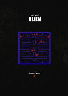 Yep, summary of the first Alien movie:p Best Movie Posters, Minimal Movie Posters, Cool Posters, Film Posters, Predator Movie, Alien Vs Predator, Alien Sigourney Weaver, Sick Movie, Game Over Man