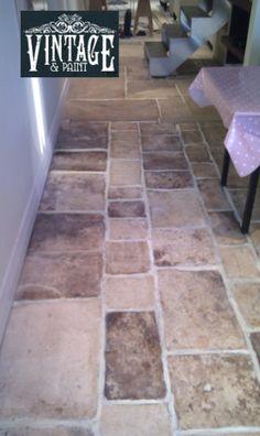 Annie sloan painted floors on pinterest painted floors for Painting vinyl floors with chalk paint