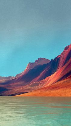 Flex Art Mountain Digital Red Abstract #iPhone #5s #wallpaper
